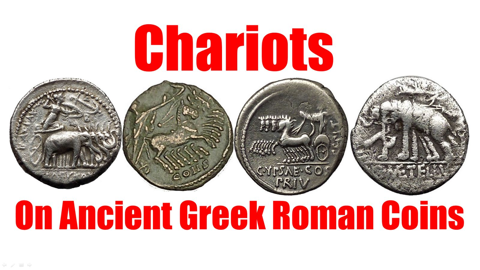 Chariots On Authentic Ancient Greek Roman Coins